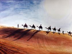 Wüste Aquarell