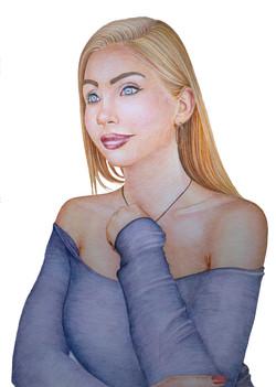 Portrait Farbstift A3