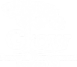 grow personal development logo white FIN