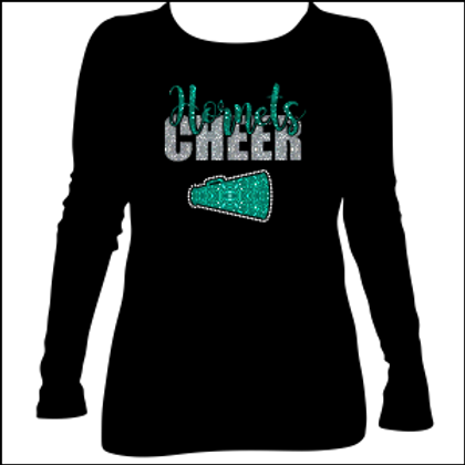 Highland Cheer with Megaphone long sleeve t shirt