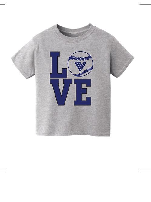 IVL BASEBALL LOVE SHIRT YOUTH