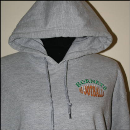 HORNETS FOOTBALL EMBROIDERED HOODIE