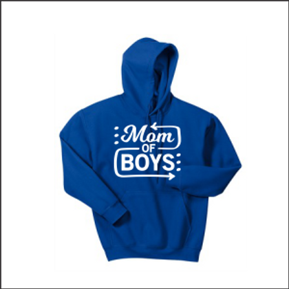 Mom of boys hoodie