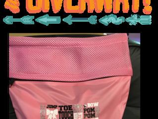 Cheerleader cinch bag giveaway