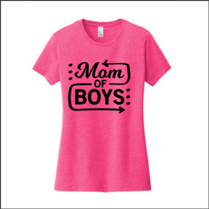 Mom of Boys LADIES T SHIRT