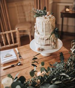 Semi-naked decorated cake