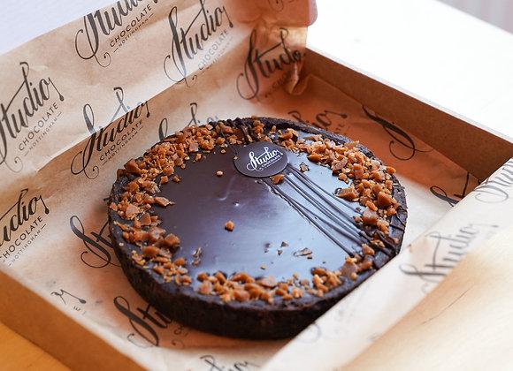 Chocolate Caramel + Peanut Tart