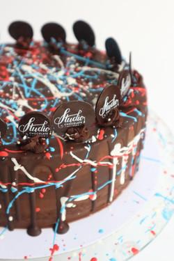 Ganache and drip decorated cake