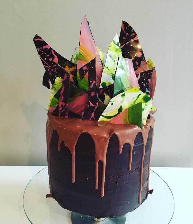 Marbled Chocolate Shard Cake