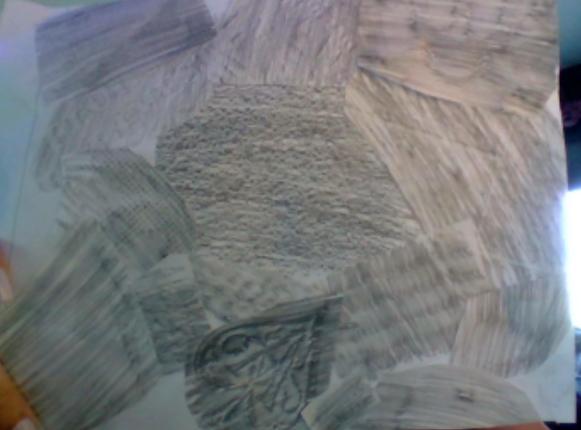 Sarah - Texture Collage