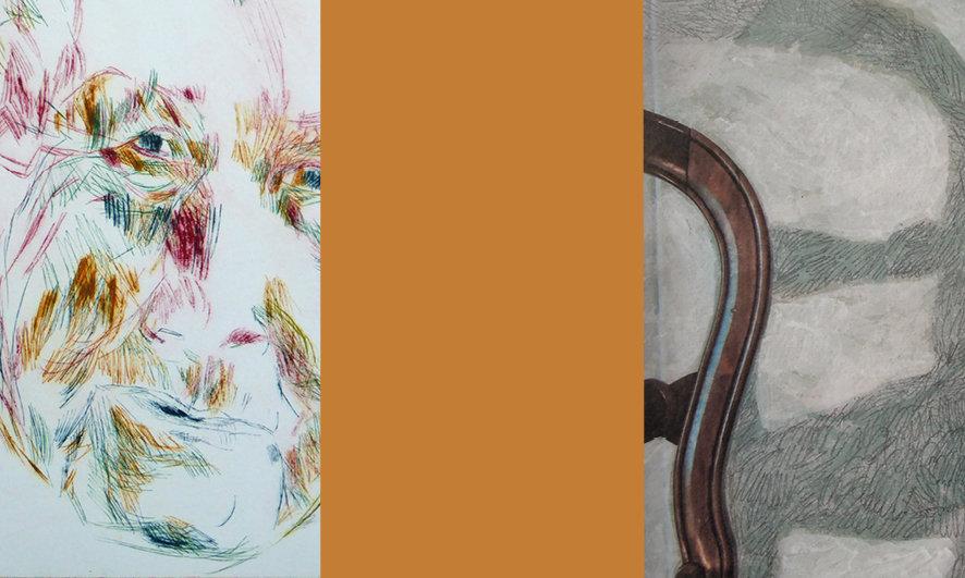 Galleria Gefängnis Le Carceri, Caldaro. Mostra QUELLO CHE (NON) C'È. Acquaforte a freddo, foto dipinte, terracotta, video. Margareta Langer - Daniela Chinellato