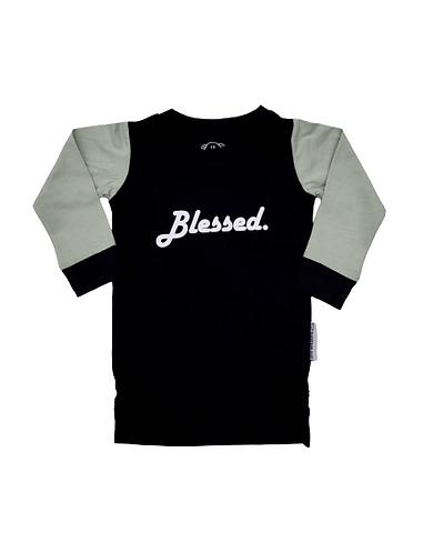 Kids - L/S Black 'Blessed' Tee