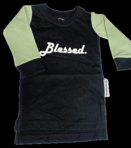 Ladies L/S Black 'Blessed' Tee