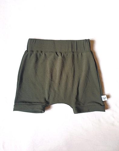 Battle Green Slouchy Shorts