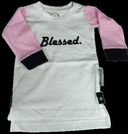 Ladies L/S White 'Blessed' Tee