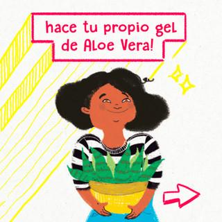 Hace tu propio gel de Aloe Vera