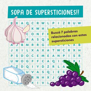 Sopa de supersticiones!!