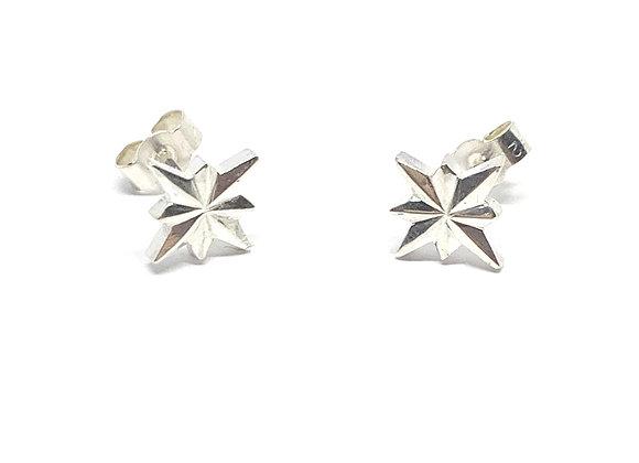 Night sky sterling silver stud earrings