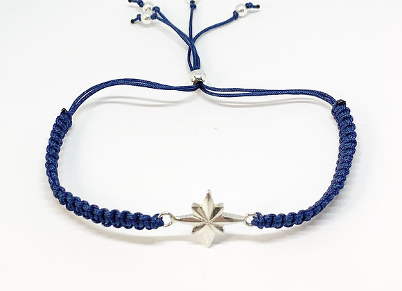 Night sky star braided bracelet