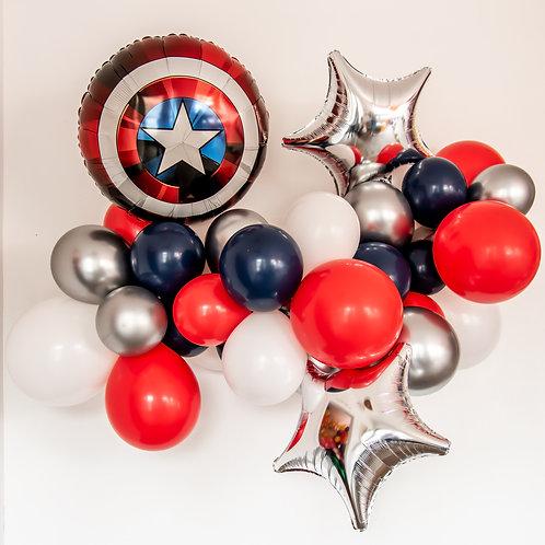 Captain America Balloon Garland