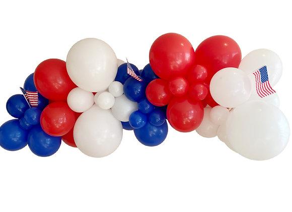 Patriotic DIY Balloon Garland