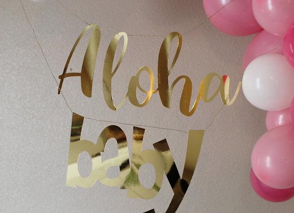 Aloha Baby Banner