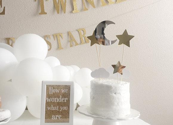Twinkle Star Cake Topper Set