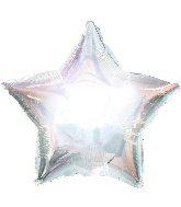 Silver Mylar Star Balloon