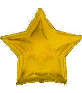 Gold Mylar Star Balloon