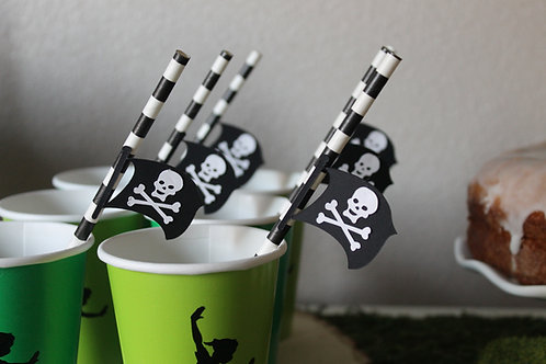 Pirate Flag Straws (12)