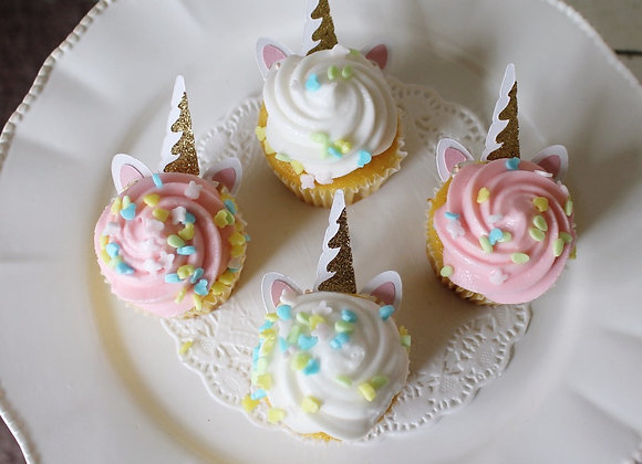 Unicorn Cupcake Topper Horn and Ears