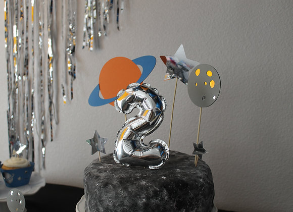 Space Party Cake Topper Set