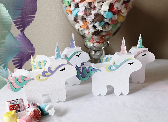Unicorn Party Pinata Favor Boxes (4)