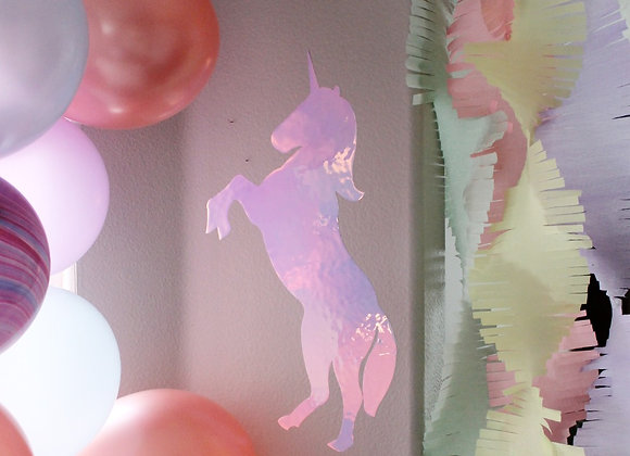 Iridescent Unicorn Decal ***FREE small Stickers***