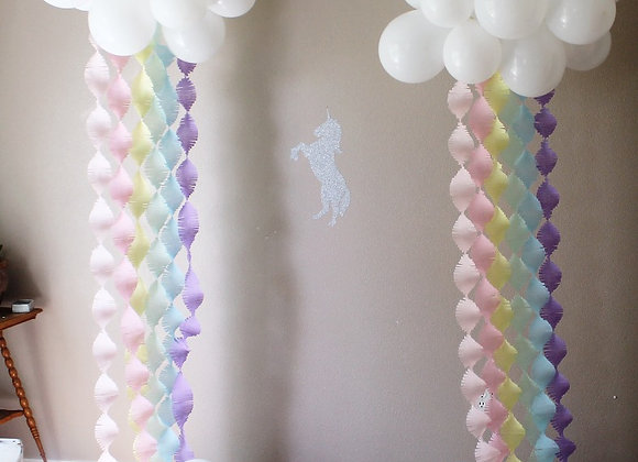 Pastel Rainbow Cloud with Fringe