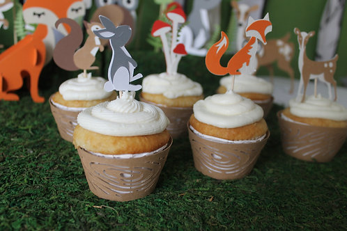 Woodland Cupcake Sleeves (12)