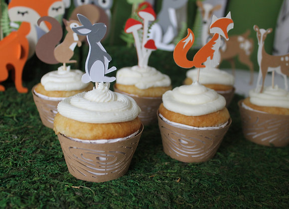 Woodland Cupcake Sleeves (12)