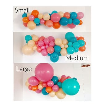 balloon garlands custom