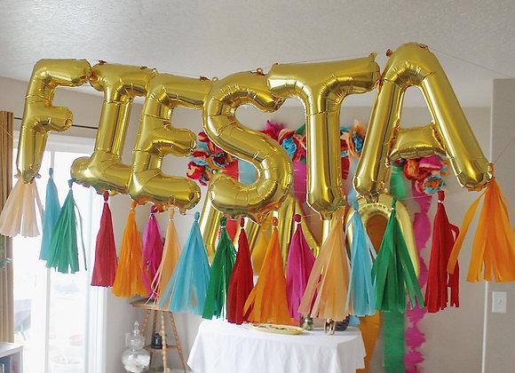 FIESTA balloon and tassel set