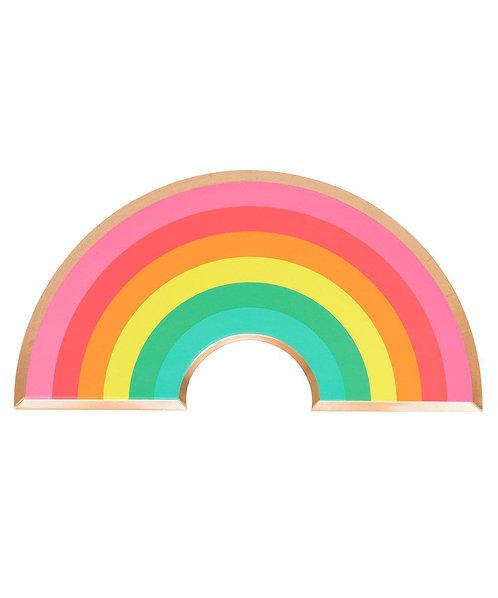Oh Happy Day Rainbow Plates