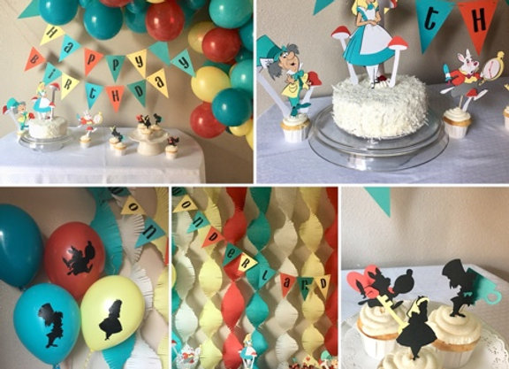 Alice in Wonderland Party Package