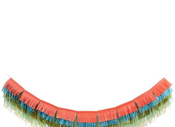 Colorful Fringe Layered Garland