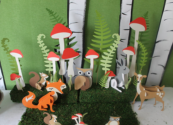 Woodland 3D animals