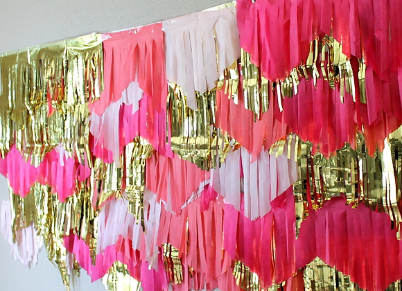 Pink Ombre Garland Backdrop