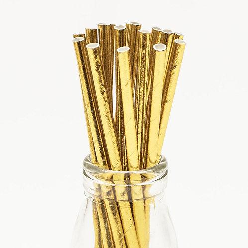 Gold Foil Paper Straws (24)
