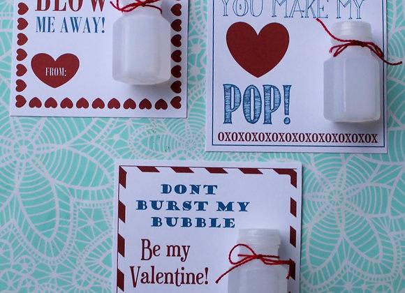 3 PDF Bubble Valentines