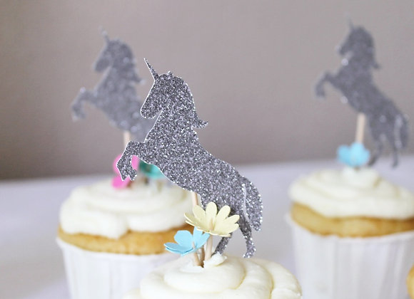 Unicorn Cupcake Toppers Set