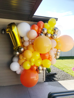 Small cluster added jumbos and number balloon