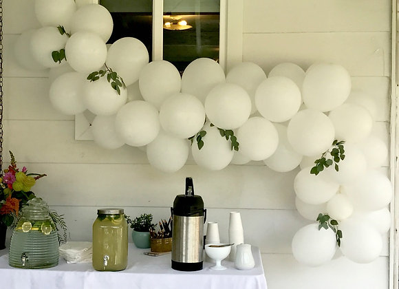 White Balloon Kit (12 inch)