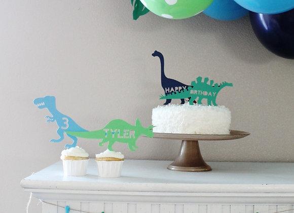Custom Dino Cake Toppers